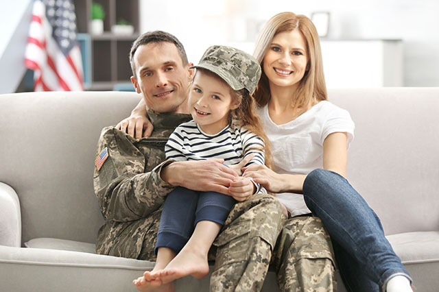 family of veterans who received a home loan, taken in Bozeman montana
